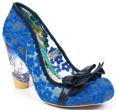 Irregular Choice Happy Home Blue Multi Womens Heels Court Shoes-41