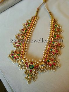 Jewellery Designs: Kundan Necklace with Rubies