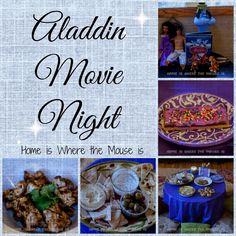 Aladdin Movie Night | Disney Movie Night | Family Movie Night |  Disney Party Ideas