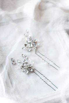 More items from my shops: https://www.etsy.com/shop/EnzeBridal https://www.etsy.com/shop/EnzeBridalUSA The rhinestone bridal wedding hair pins are beautifully adorned with various stones, crystals and components. The base is wired and flexible, it is made from high quality durable