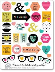 Mixed Messages - Planner Girl Edition- Honey Girl Color Palette | The Reset Girl Shop