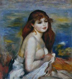 Auguste Renoir - Après le bain (Petite Baigneuse)