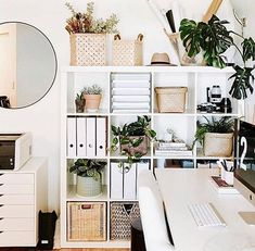 """Professional Organizer In NYC on Instagram: """" How is everyone's work-from-home space?⠀ ⠀ Now that you have been using a space at home as an office or to complete hobbies what is…"""" Home Office Storage, Home Office Organization, Home Office Design, Home Office Decor, Home Decor, Office Ideas, Organization Ideas, Organized Office, Ikea Office"""