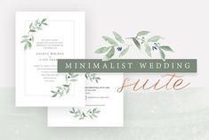Minimalist Wedding Invitation Suite by Victoria Bilsborough on @creativemarket