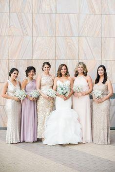 mismatched bridesmaids @weddingchicks