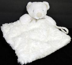 Blankets & Beyond White Teddy Bear Plush Stuffed Animal Lovey Security Blanket #BlanketsBeyond