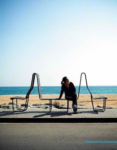 http://weburbanist.com/2012/03/12/city-seats-14-examples-of-unconventional-urban-furniture/