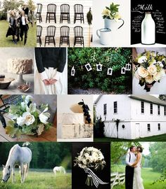 Mood: bucolic elegance  Palette: olive black, picket fence white, field green