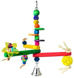 Hanging Bird Gym - Small x Parakeets to Conures Hanging Bird Gym - Medium x - Perch Diameter Conures to small Cockatoos This is sure to delight your feathered baby! Homemade Bird Toys, Diy Bird Toys, Parrot Toys, Conure, Cockatoo, Parakeet, Gliders, Bowie, Diets