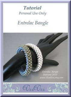 SuperDuo Beading Tutorial instructions patterns- PDF download- Entrelac/bangle $12.00