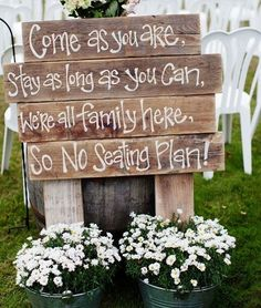 11 Simply Stunning Sign Ideas For Your Wedding Ceremony Venue Rustic WeddingsRustic SignsWedding