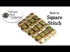 Video:Introduction to Square Stitch in Bead Weaving. #Seed #Bead #Tutorials