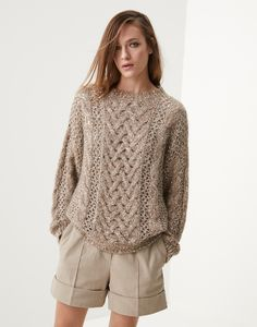 Cable Sweater, Casual Elegance, Unique Outfits, Lace Knitting, Brunello Cucinelli, Slow Fashion, Cashmere Sweaters, Knit Sweaters, Ready To Wear