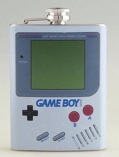 Give your drinks a retro twist with this Game Boy flask.