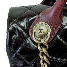 CHANEL Women's Vintage Leather Chain Shoulder/Hand Bag Black A67800: Handbags: Amazon.com