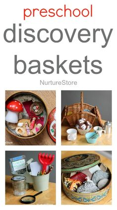 Great ideas for preschool discover baskets: for imaginary play, storytelling, science and math