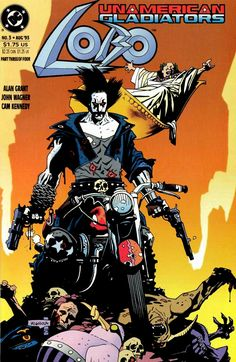 SPACESHIP ROCKET, Lobo: Unamerican Gladiators four-issue miniseries...