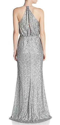 Badgley Mischka | Sequined Blouson Gown | SAKS OFF 5TH