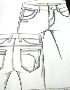 Croquis Masculinos - Inverno 2016 His Jeans, Jeans Pants, Clothing Sketches, Fashion Sketches, Types Of Jeans, Fashion Figures, Summer Jeans, Technical Drawing, Flat Drawings