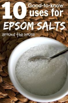Epsom Salts have so many great uses around the house! I've been using them for years, but there are a few new ones in this list. Love number 10!!!