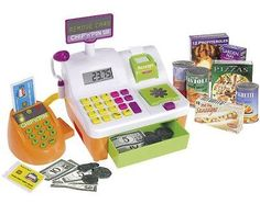 NEW! Kids Toy Cash Register Supermarket Shopping Checkout Till Play Food Game