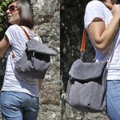OFFER - Leather bag grey leather backpack shoulder bag convertible backpack crossbody bag grey - zipper and adjustable strap - ELI model Backpack Purse, Leather Backpack, Leather Bag, Crossbody Bag, Convertible Backpack, Grey Leather, Fashion Handbags, Leather Purses, Purses And Bags