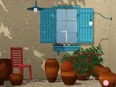 Veranda Pottery by DOT  http://www.thesimsresource.com/downloads/1175715