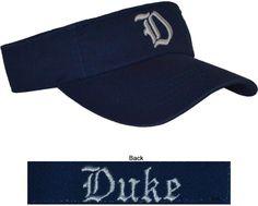 Duke- Blue Visor  $16.99  Conference Apparel & College Sports Apparel - Conference Wear - Salisbury, North Carolina College Hats, Sports Apparel, Salisbury, Duke, Sport Outfits, North Carolina, Conference, How To Wear, Fashion