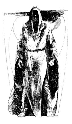 Drawing of a Fremen from 'The Illustrated Dune'.