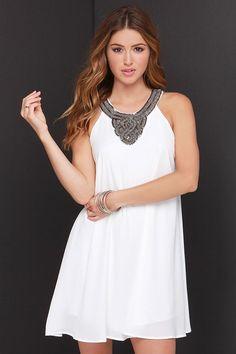 Bead Ivory Beaded Dress