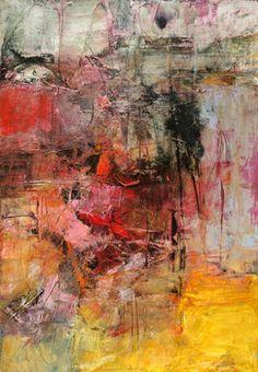 "Bob Hunt, Soundless Frenzy #1, Acrylic on Paper, 22.5 X 15"""