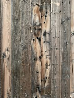 Gray, brown and black reclaimed wood board from Wyoming Snow Fence Reclaimed Wood Fireplace, Reclaimed Wood Paneling, Reclaimed Wood Furniture, Salvaged Wood, Wood Planks, Barn Wood, Snow Fence, Barnyard Animals, Fences