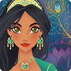 Princess Jasmine from Disney's live action movie, Aladdin Aladdin Art, Aladdin Movie, Aladdin Princess, Arte Disney, Disney Fan Art, Disney Magic, Disney Jasmine, Aladdin And Jasmine, Disney And Dreamworks