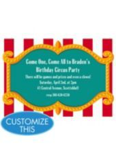 Big Top Custom Invitation Boys Birthday Invitations