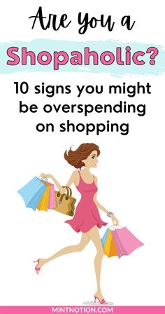 Are you a shopaholic? Find out the 10 common signs of a shopping addiction and how to fix it. Learn how to stop an addiction to retail therapy so you can save money and get out of debt. Build a healthy relationship with money and curb impulse buying. Life On A Budget, Paying Off Student Loans, Debt Free Living, Create A Budget, Get Out Of Debt, Frugal Living Tips, Love Your Life, Retail Therapy, Healthy Relationships