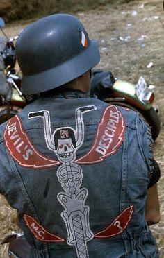mc clubs   Vintage Motorcycle Club Vests