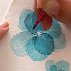 Watercolor Flowers Tutorial, Watercolour Tutorials, Watercolor And Ink, Watercolor Masking Fluid, Flower Watercolor, Art Pastel, Watercolor Paintings For Beginners, Art Drawings Sketches, Flower Art