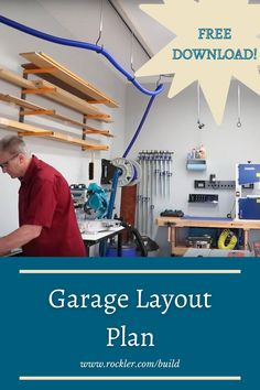 Every woodworker would like to have more workshop space. A large space is nice for many reasons, but you actually don't need a large space to set up an effective shop. Download our free plan for an effective layout for a small shop!  #createwithconfidence #smallshop #smallshoplayout #garagelayout #freerocklerplan Cool Woodworking Projects, Teds Woodworking, Workshop Organization, Weekend Projects, Wood Plans, Diy Furniture, Small Spaces, Hardware, Layout