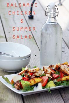 i want the woman who writes this blog to adopt me and let me live at her house.  everything she does looks amazing.  balsamic chicken & summersalad - Home - A Sweet Simple Life