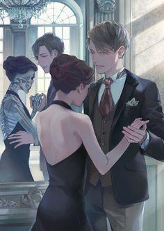 Dead girl walking - # drawings - New Ideas - Anime Love Couple, Couple Art, Fantasy Kunst, Fantasy Art, Fanart, Anime Kunst, Aesthetic Art, Manga Art, Dark Art