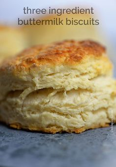 This three ingredient buttermilk biscuit recipe will absolutely change your biscuit-making life.