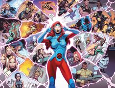 Jean Grey callin on (almost) all the X-Men in Uncanny X-Men Marvel Women, Marvel Girls, Marvel X, Comics Girls, Marvel Heroes, Captain Marvel, Xmen Comics, Jean Grey Phoenix, X Men