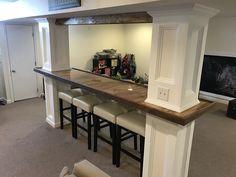 Basement Bar Between Support Pillars