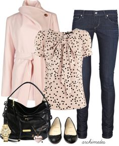 """A Casual Romance"" ❤ Love this top. # Casual Outfits for work polka dots A Casual Romance Fashion Moda, Work Fashion, Womens Fashion, Curvy Fashion, Street Fashion, Casual Outfits, Cute Outfits, Fashion Outfits, Fashion Trends"