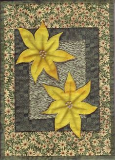 Untitled yellow poinsettia by Mary Preece
