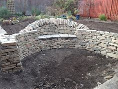 natural stone wall with mortar - Google Search