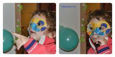 #Maschera di #Carnevale in stoffa senza cucire con modello per #bambini di 2-3 anni