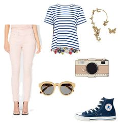 """""""Pastel jeans"""" by cakesterb on Polyvore featuring New York & Company, Sea, New York, Bernard Delettrez, Converse, Kate Spade and STELLA McCARTNEY"""