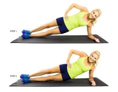 skinny mom side plank hip dips
