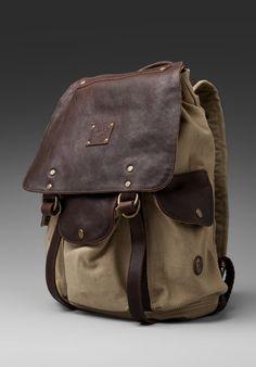WILL LEATHER GOODS Lennon Rucksack in Khaki/T.Moro - Backpacks